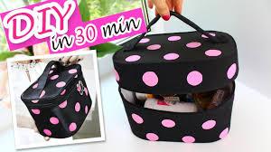 awesome diy zipper dots cosmetic bag