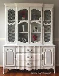 china cabinet hutch. Image Is Loading Vintage-White-French-Provincial-China-Cabinet-Hutch China Cabinet Hutch Z