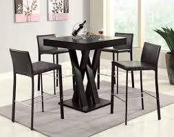 Contemporary Pub Table Set 5 Sale Discount Coaster Co Crisscross Bar Table With Square
