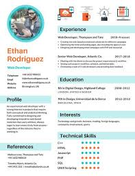 Infographic Resume Templates Best of Blue Icons Infographic Resume Templates By Canva