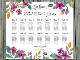 Printable Seating Chart For Wedding Reception Seating Charts For Weddings Template Jennifermccall Me