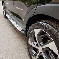 <b>Пороги подножки</b> OEM <b>BMW</b> Style на Hyundai Tucson New ...