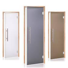 lux sauna doors