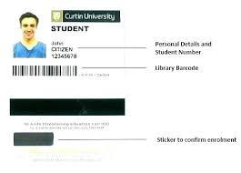 Free Student Id Card Template High School Creative Word