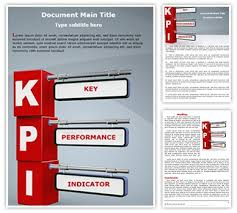 Word Document Template Design Kpi Editable Word Template And Design