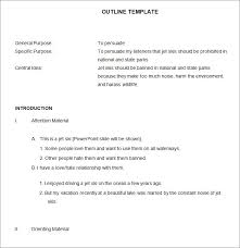 formal outline template in word pdf format example of a formal outline for an essay