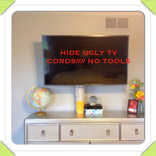 DIY: How To Hide Cords from flat Screen/// NO TOOLS