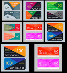 Gift Voucher Template Set Free Download