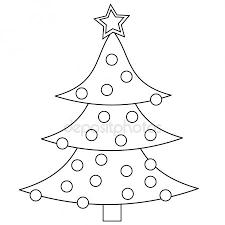 Kerstboom Kleurplaat Stockfotos Rechtenvrije Kerstboom Kleurplaat