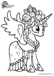 Coloring Pages Staggering Book Mytle Pony Pdf Free Trendy Idea Mlp