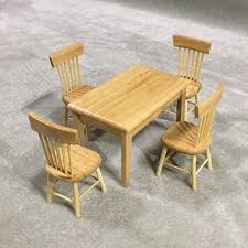 miniature dollhouse furniture woodworking. 1/12 Dollhouse Miniature Dining Table Chair Wooden Furniture Set Wood Color Big Dollhouses For Girls Top Rated Toddlers From Zongheng231, Woodworking L