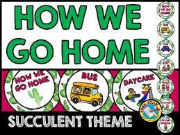 Classroom Management Succulent Classroom Decor How We Go Home Clip Chart