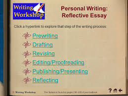 click a hyperlink to go to the corresponding content area ppt  personal writing reflective essay