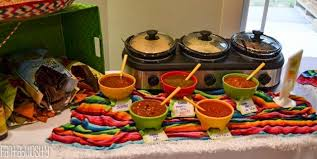 Fiesta Housewarming Party Ideas Variety of Salsas, A Salsa Tasting, and  salsa bar