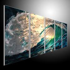 blue see original abstract wall art metal painting wall home decor office decor tv wall metal painting sea in painting calligraphy from home garden on