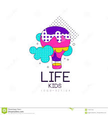 Design Life Kids Kids Life Logo Design Bright Label For Kids Club