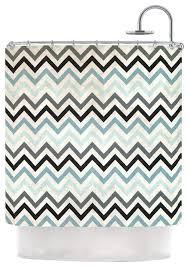 Heidi Jennings Blue Chevron Gray Aqua Shower Curtain
