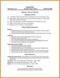Prep Cook Resume Cook Resume Skills Staruaxyz 14