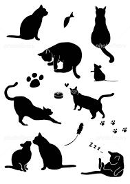 猫のシルエット イラスト素材 1665553 フォトライブラリー