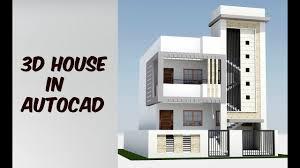 House Designers Online 2 Floor 3d House Design In Autocad