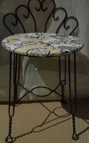 metal vanity stool. Unique Metal Loading Vanity StoolVanity  To Metal Stool V