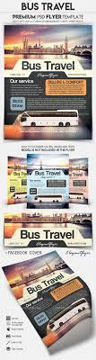 Bus Travel Flyer Psd Template