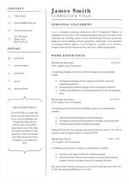 Professional Curriculum Vitae Template Interesting 48 CV Templates Free To Download In Microsoft Word Format