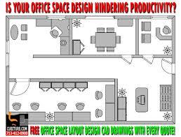 design an office layout. Custom Office Space Layout Design An