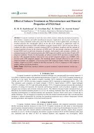 Effect Of Subzero Treatment On Microstructure And Material