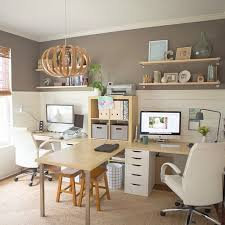 Office desk in living room Aesthetic Study Amusing Home Office Desk For Two 209 Best  Image On Pinterest And Person Design Your Wonderful Area Monitor Dual Computer Laptop Living Thesynergistsorg Amusing Home Office Desk For Two 209 Best  Image On