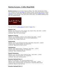 Barista Resume Example Hobbies Interests Barista Cv Rnei Barista Resume   Resume For Coffee Barista Resume
