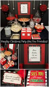 Naughty Christmas Party Ideas with Free Printables