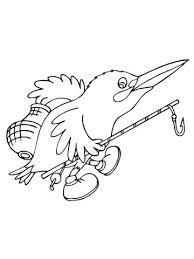 Cartoon Ijsvogel Gaat Vissen Kleurplaat Gratis Kleurplaten Printen