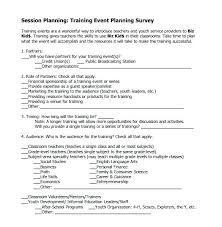 post event survey questions template training needs assessment survey template post evaluation