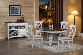 graceful white high gloss finish dining table combined with armless chairs small pendant lights furry rug storage console desk brown c