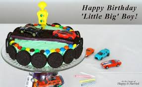Race Car Themed Birthday Cake Cake Stand