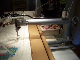 I am now the proud owner of a longarm quilting machine ... & From the back of the machine. Adamdwight.com