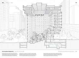 architecture building drawing. Ford Foundation Headquarters By Kevin Roche John Dinkeloo Associates (1968). Published In Manual Architecture Building Drawing