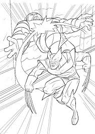 Small Picture Coloring Pages For Kids Wolverine Fighting Super Heroes Coloring