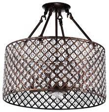 1st avenue mariella 4 light crystal semi flush mount antique with regard to