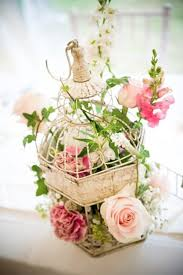 Enchanted Garden Shabby Chic Birdcage Summer Table Decorations