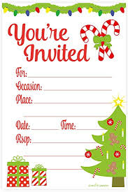 Party Invitations Amazon Com Festive Christmas Party Invitations Fill In Style 20
