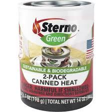 How To Light Sterno Cans Sterno 12 2 Oz Gel Canned Cooking Fuel 2 Pack Jerrys