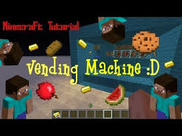 Minecraft Vending Machine Mod Impressive Minecraft Tutorial Vending Machine No Mods YouTube