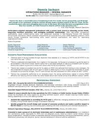 Sample Resume For General Manager Of Hotel Your Prospex
