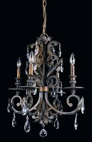 small black wrought iron chandeliers wrought iron mini chandelier 4 lights hand cut crystal wrought iron