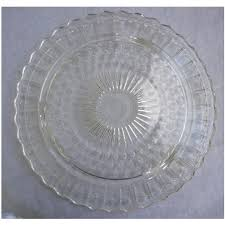 vintage 1930s clear depression glass cake plate chez marianne ruby lane
