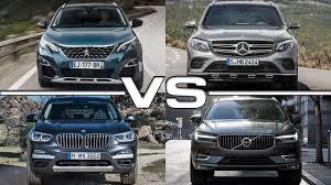 BMW 3 Series xc60 vs bmw x3 : Peugeot 5008 vs Mercedes GLC vs BMW X3 vs Volvo XC60 - YouTube