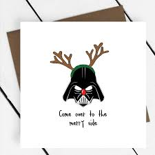 Creative Christmas Cards Come Over To The Merry Side Star Wars Christmas Card By A Piece