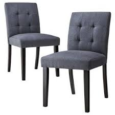 uptown tufted dining chair slate set of 2